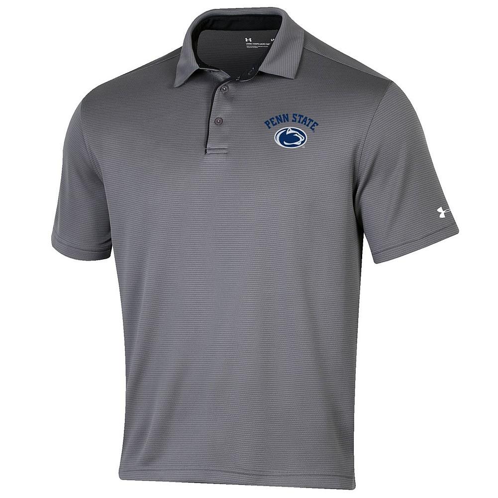 6778930e Penn State UA Tech Polo Graphite Nittany Lions (PSU)