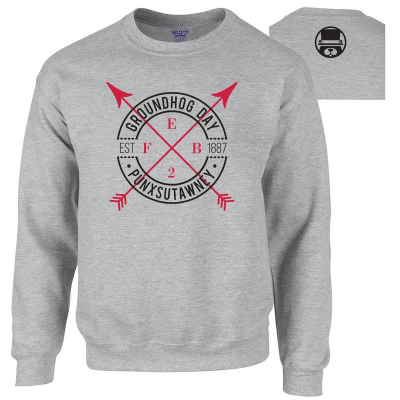 Men's Crew Neck Sweatshirt-Sport Grey
