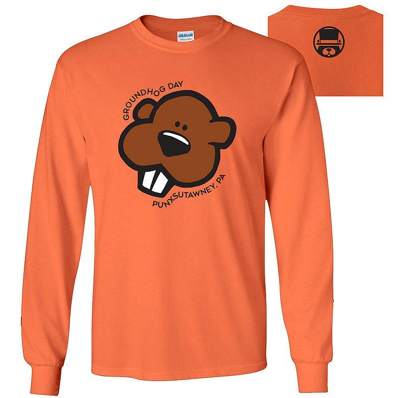 Gildan Youth Long Sleeve T-Shirt-GHW5 2400B-Orange (Gildan)