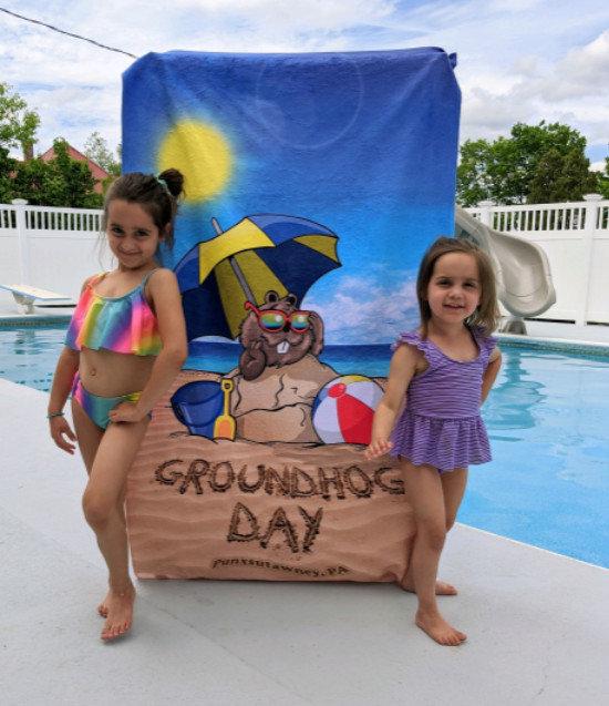 SPC GHW22-Groundhog Day Beach Towel GHW22-DP150-A (SPC)