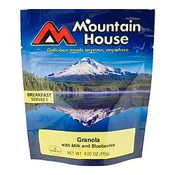 photo: Mountain House Granola with Blueberries & Milk breakfast