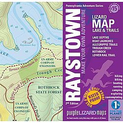 photo: Purple Lizard Maps Raystone Lake Trail Map us northeast map