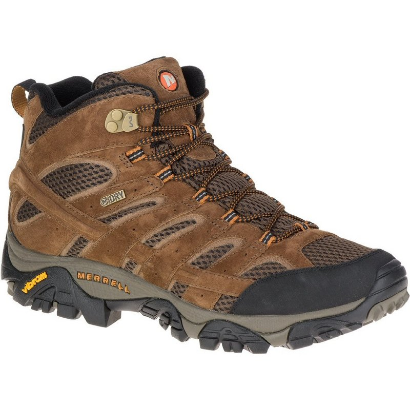 Merrell Men's Moab 2 Mid Waterproof Boot EARTH 11.5 REG