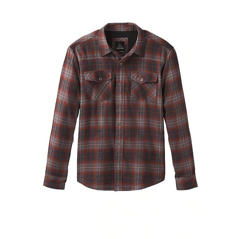 PRANA Men's Asylum Flannel Shirt ATOMIC ORANGE L REG