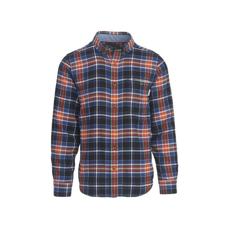 Woolrich Men's Trout Run Plaid Flannel Shirt BLACK MULTI XXL