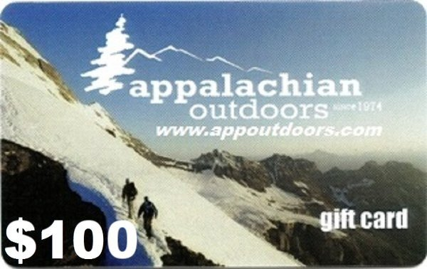 Appalachian Outdoors $100 Gift Card APPGIFT100 (Appalachian Outdoors)