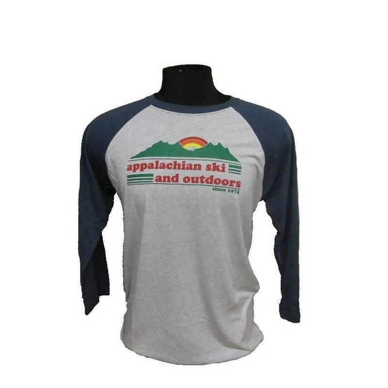 Appalachian Outdoors Appalachian Ski 3/4 Sleeve Baseball Tee 6051 (Appalachian Outdoors)