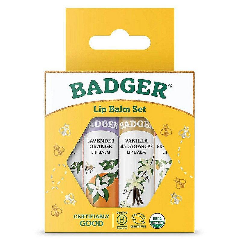 Badger Classic Lip Balm 4 Pack--Blue Box 22570 (Badger)