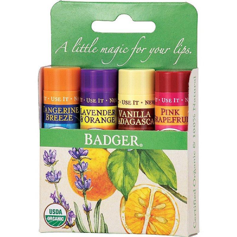 Badger Classic Lip Balm 4 Pack--Green Box 22571 (Badger)