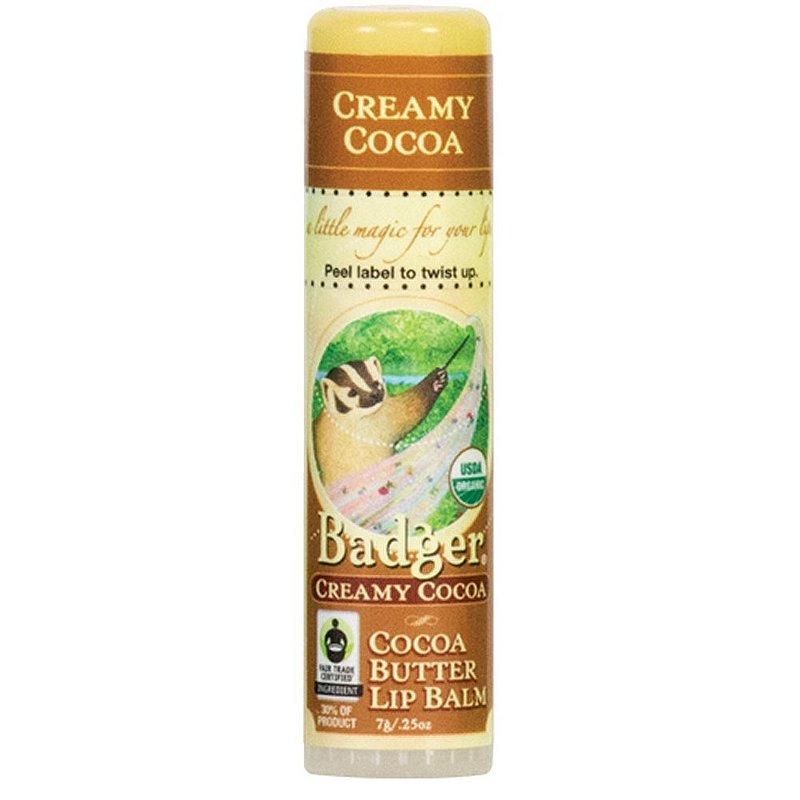 Badger Creamy Cocoa Butter Lip Balm 12590 (Badger)