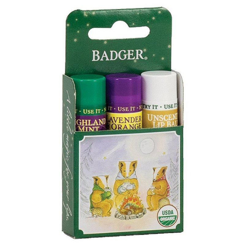 Badger Lip Balm 3-Pack--Green Box 70024 (Badger)