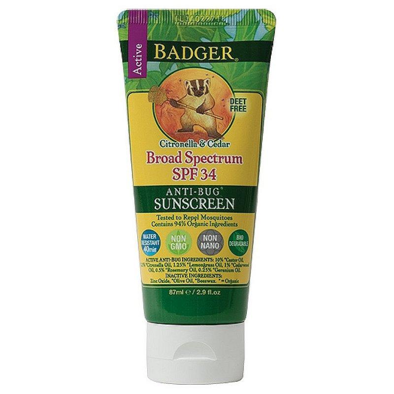 Badger SPF 34 Sunscreen & Bug Repellent 47300 (Badger)