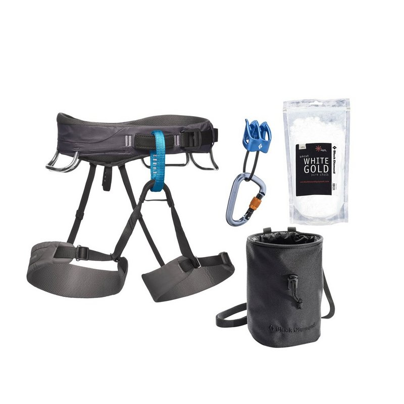 Black Diamond Equipment Men's Momentum Harness Package BD651073 (Black Diamond Equipment)