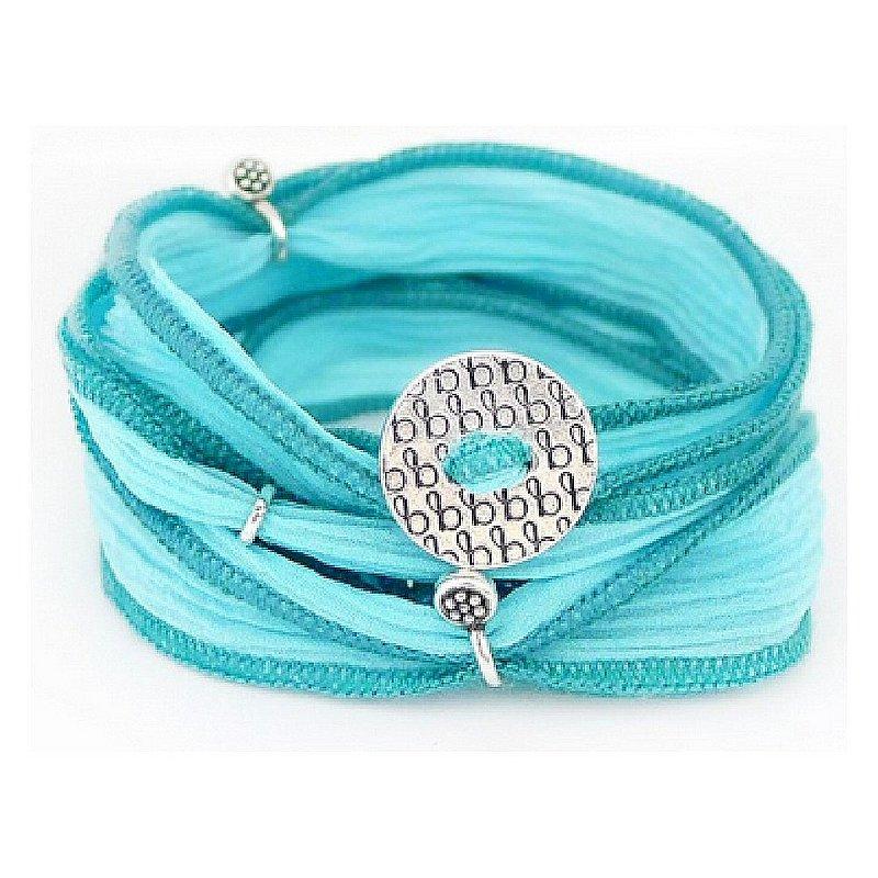 Bronwen Jewelry Ribbon Wrap Bracelet 4011-S-SS (Bronwen Jewelry)