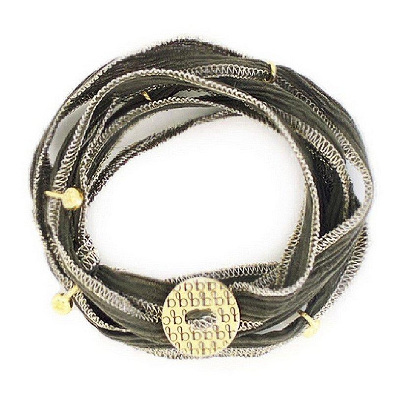Bronwen Jewelry Ribbon Wrap Bracelet 4023-G-SS (Bronwen Jewelry)