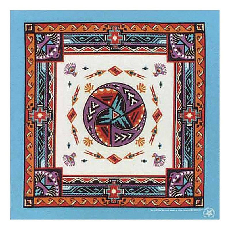 Carolina Modern Aztec with Turquoise Trim Bandana 518118 (Carolina)