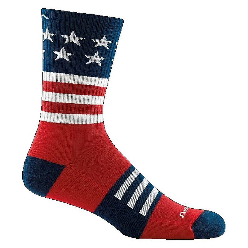 Darn Tough Men's Captain Stripe Micro Crew Lightweight Hiking Socks 1976 (Darn Tough)
