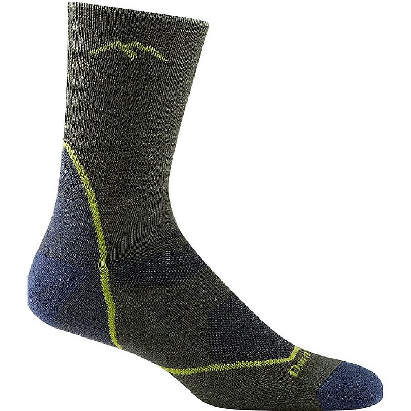 Darn Tough Men's Light Hiker Micro Crew Light Cushion Socks 1972 (Darn Tough)
