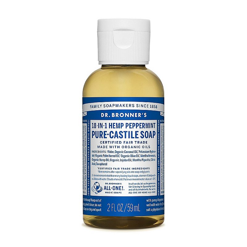 Dr. Bronner's 2 oz Liquid Soap--Peppermint 371448 (Dr. Bronner's)