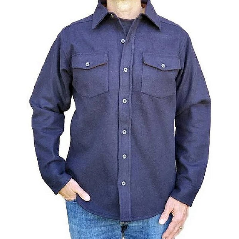 Flyshacker Clothing Co. Men's Wool Chamois Shirt SH572H (Flyshacker Clothing Co.)