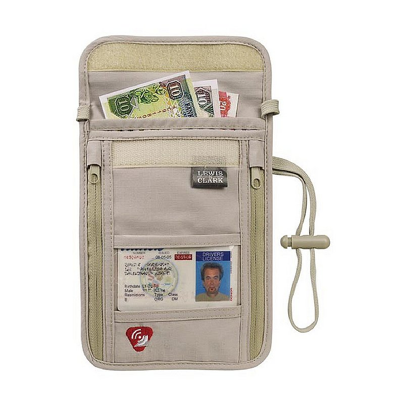 Lewis N Clark RFID Neck Stash Wallet 160328 (Lewis N Clark)
