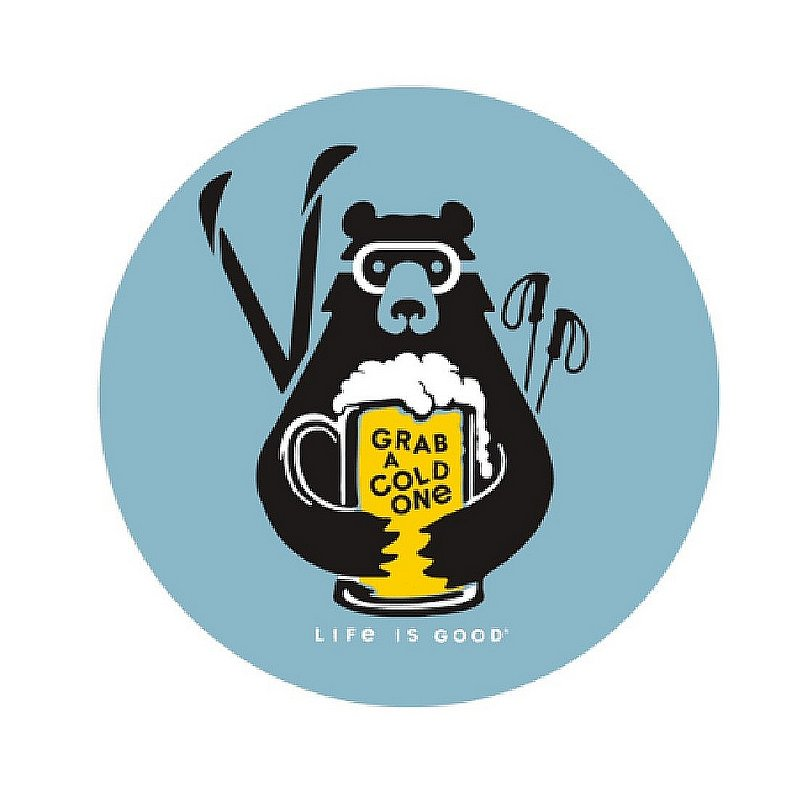 Life is good Grab a Cold One Sticker 67113 (Life is good)