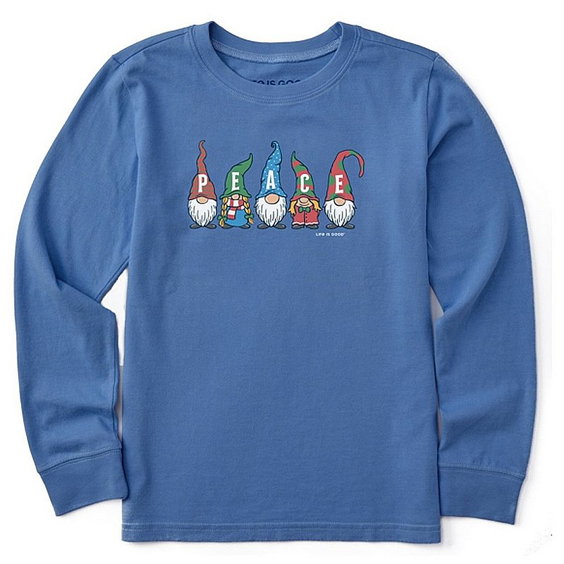 Life is good Kids' Peace Gnomes Long Sleeve Crusher Tee Shirt 94512 (Life is good)