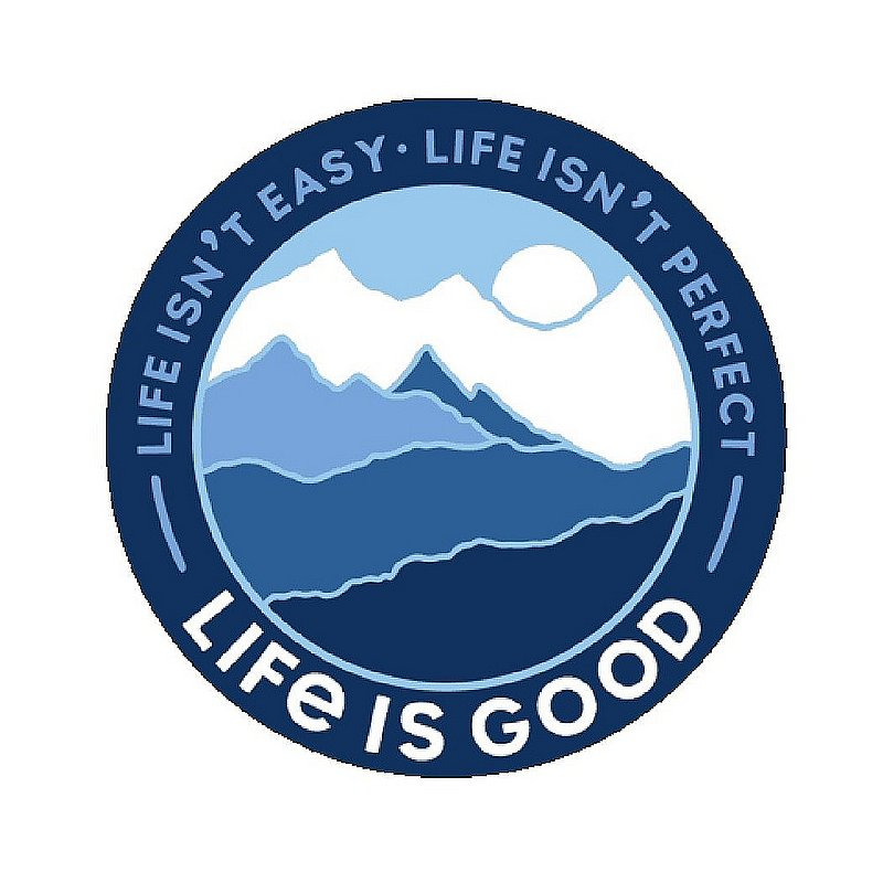Life is good Life Isn't Perfect Circle Sticker 67114 (Life is good)
