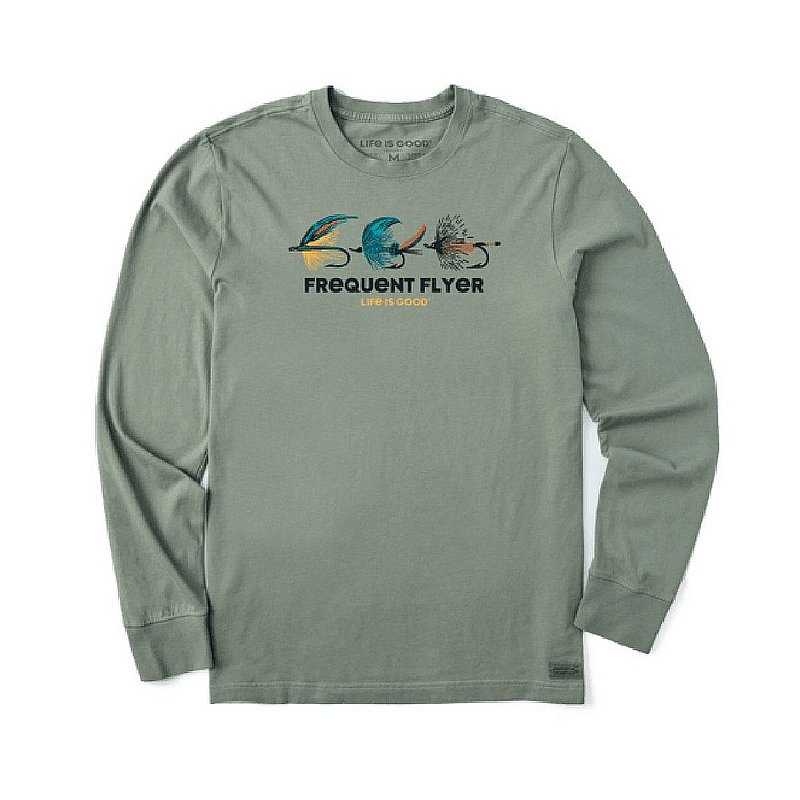 Life is good Men's Frequent Flyer Crusher-Lite Long Sleeve Tee Shirt 71746 (Life is good)