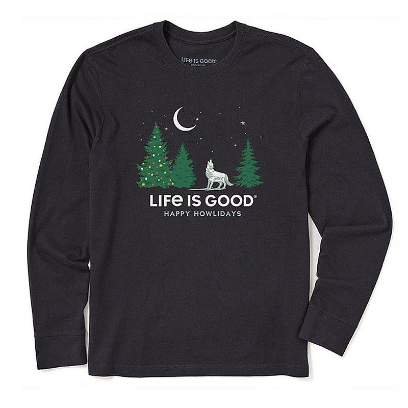 Life is good Men's Happy Howlidays Long Sleeve Crusher Tee Shirt 94490 (Life is good)