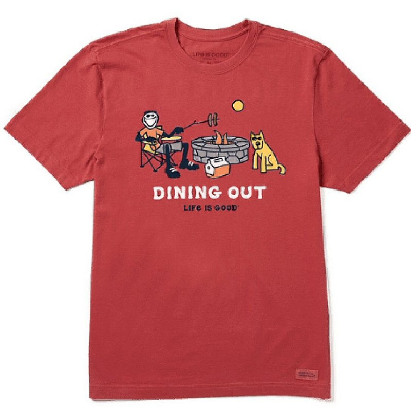 Life is good Men's Jake And Rocket Dining Out Crusher Tee Shirt 76291 (Life is good)
