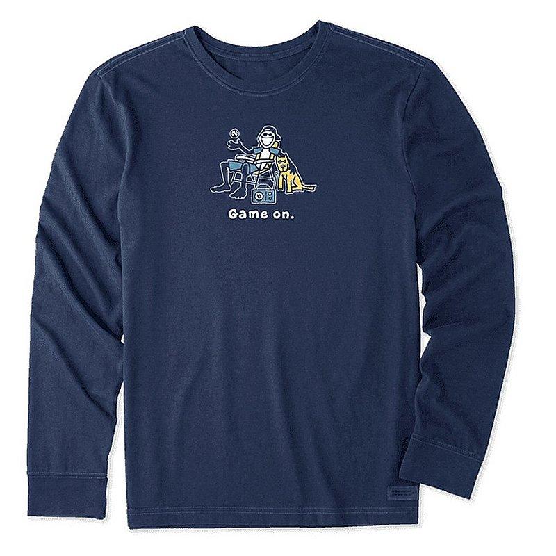 Men's Jake and Rocket Game On Long Sleeve Vintage Crusher Tee Shirt