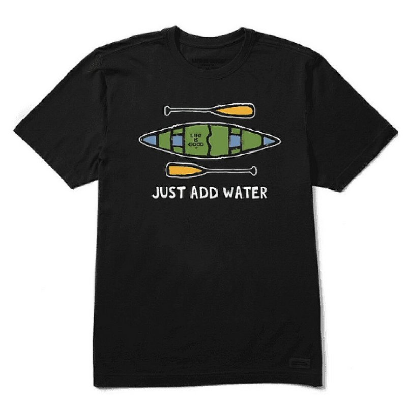 Life is good Men's Just Add Water Canoe Crusher Tee Shirt 73746 (Life is good)