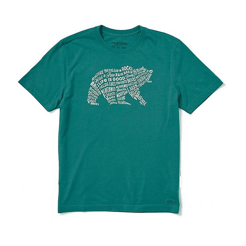 Life is good Men's Nature's Grizzly Crusher Tee Shirt 81944 (Life is good)