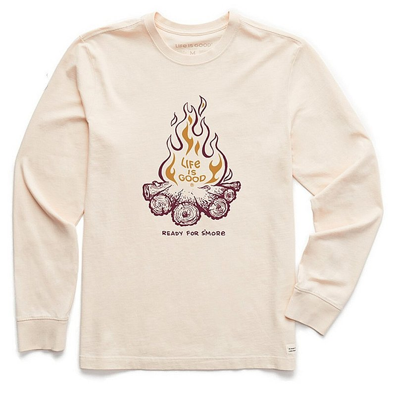 Life is good Men's Ready for S'More Long Sleeve Crusher Tee Shirt 94454 (Life is good)