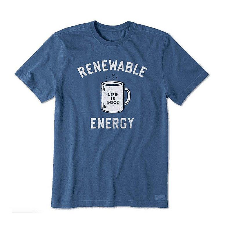 Life is good Men's Renewable Energy Mug Short Sleeve Tee Shirt 95124 (Life is good)