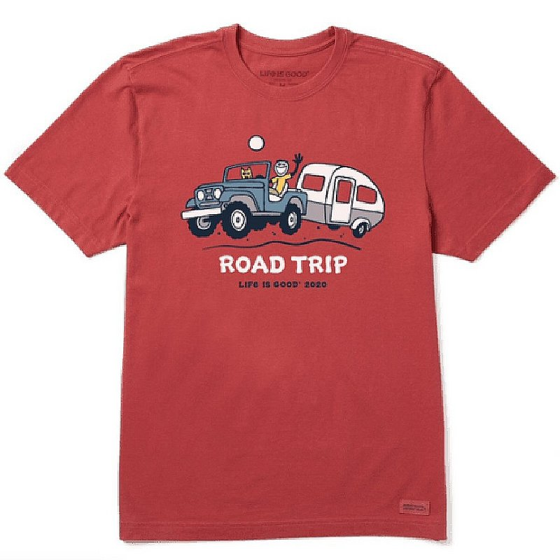 Life is good Men's Road Trip Camper Crusher Tee Shirt 73139 (Life is good)