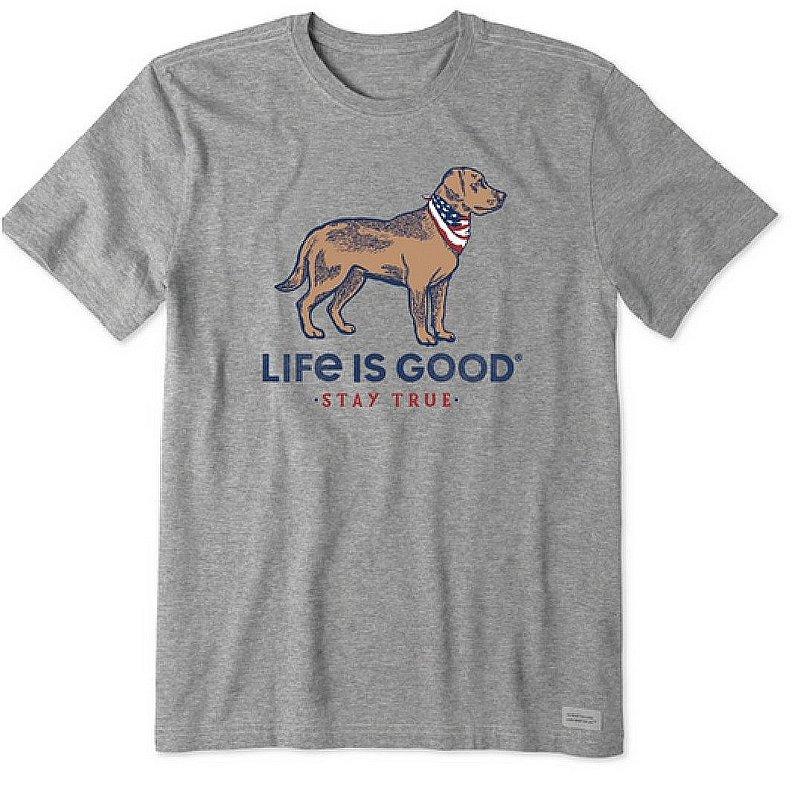 Life is good Men's Stay True Dog Crusher-LITE Tee Shirt 69056 (Life is good)