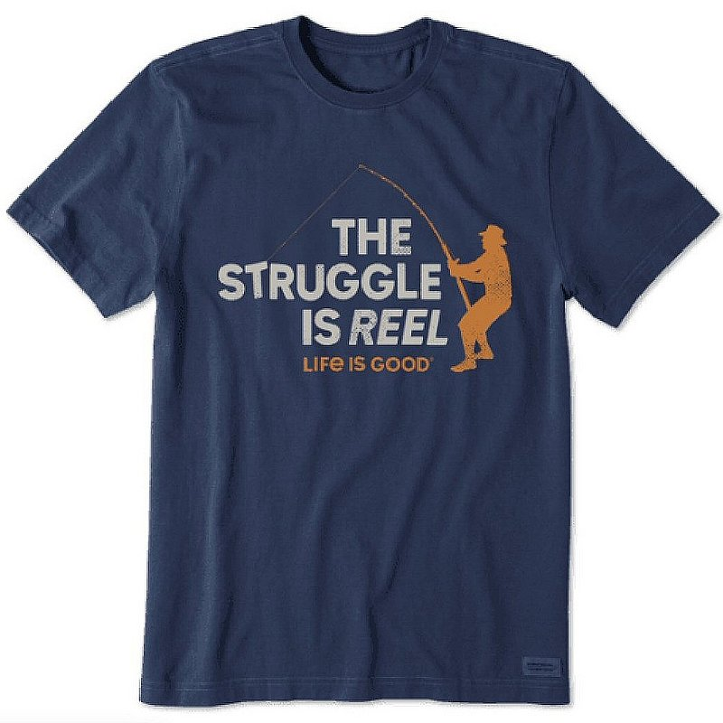 Life is good Men's The Struggle is Reel Crusher Tee Shirt 67960 (Life is good)
