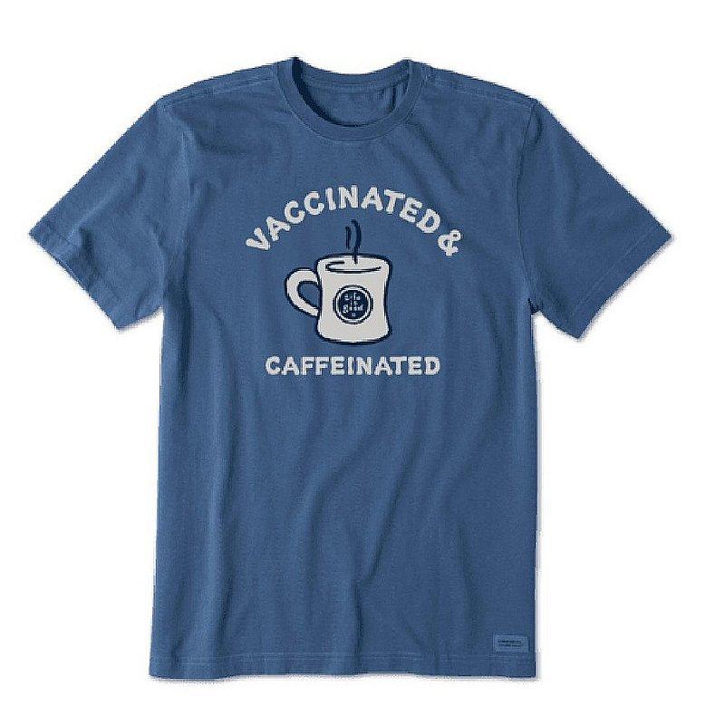 Life is good Men's Vaccinated and Caffeinated Mug Short Sleeve Tee Shirt 94752 (Life is good)
