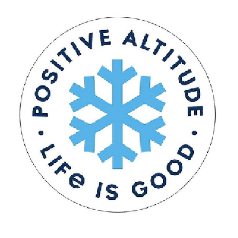 Life is good Positive Altitude Snowflake Circle Sticker 67115 (Life is good)