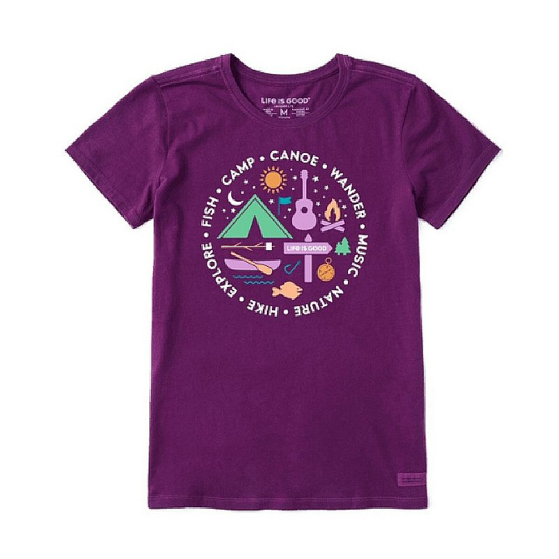 Life is good Women's All About Camp Crusher Tee Shirt 73013 (Life is good)