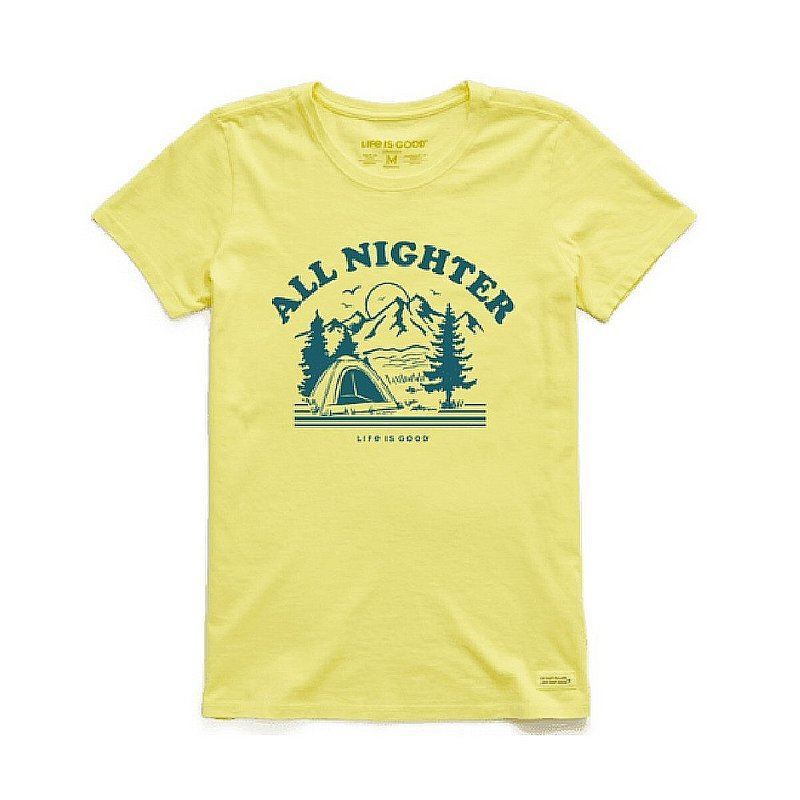Life is good Women's All Nighter Camp-Lite Crusher Crew Shirts 73234 (Life is good)