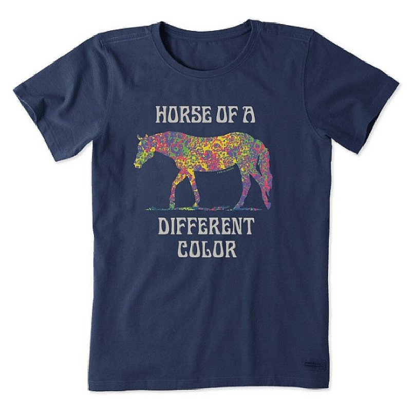 Life is good Women's Beautiful Colors Horse Crusher Tee Shirt 72488 (Life is good)