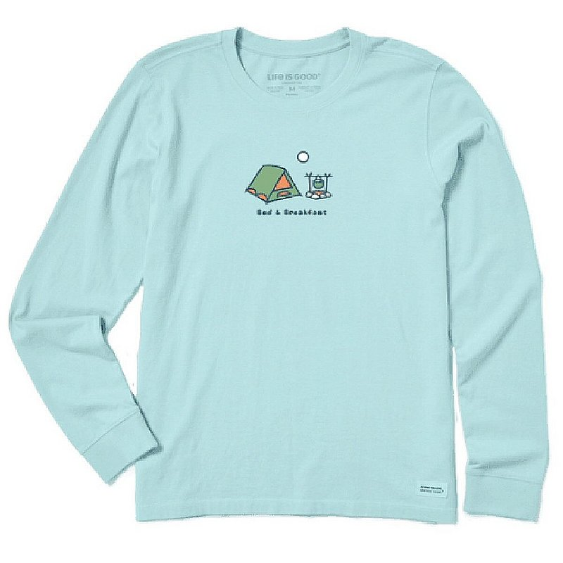 Life is good Women's Bed & Breakfast Long Sleeve Vintage Crusher Tee Shirt 64936 (Life is good)