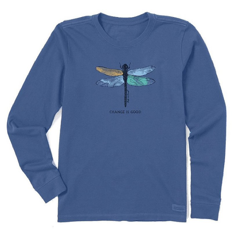 Life is good Women's Change Dragonfly Crusher Long Sleeve Shirt 69865 (Life is good)