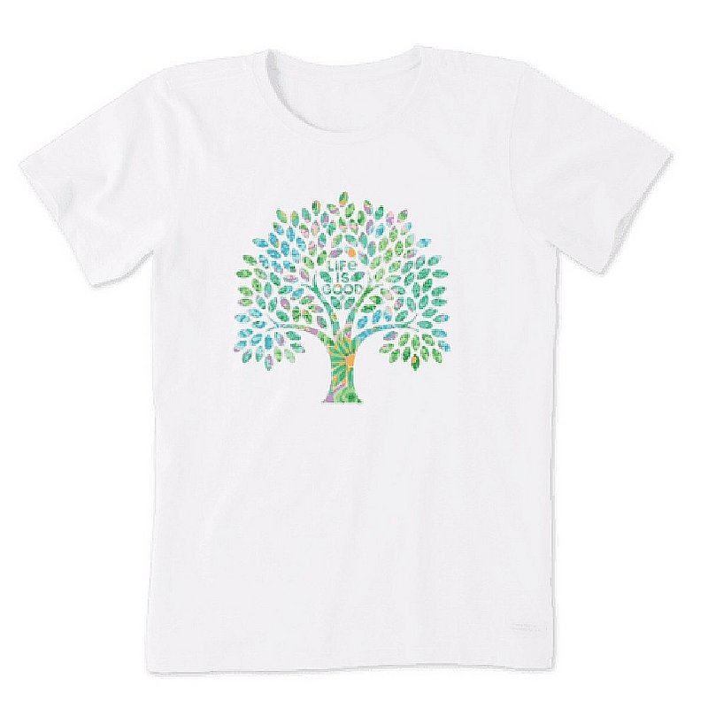 Life is good Women's Colorful Floral Tree Short Sleeve Tee Shirt 94253 (Life is good)