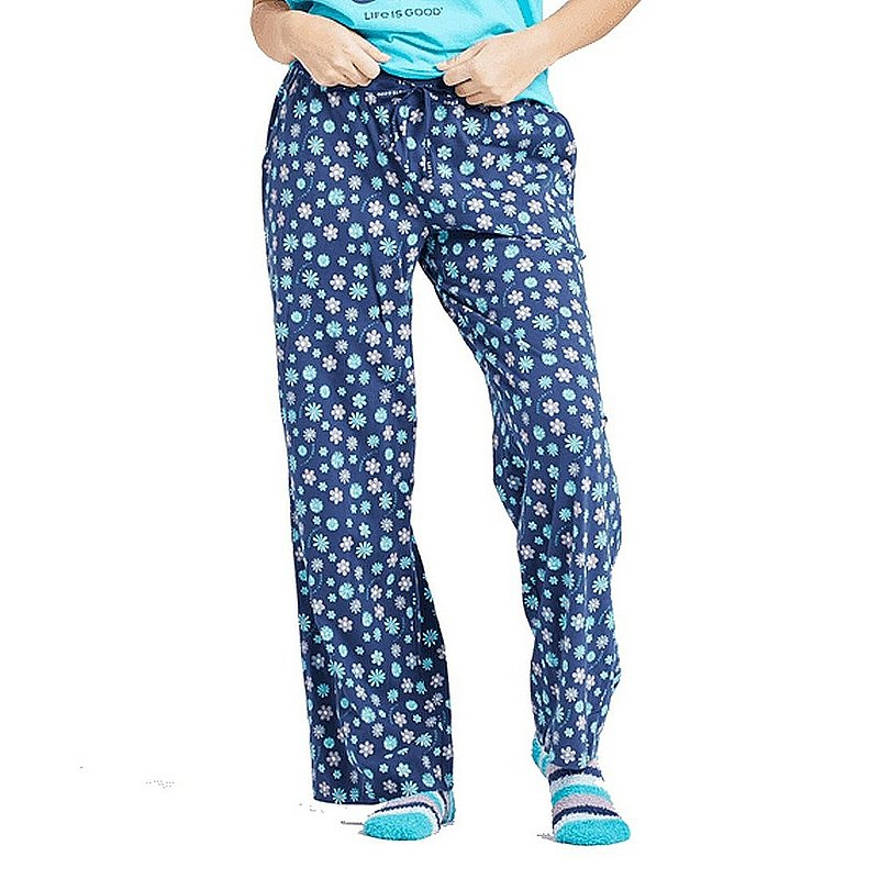Life is good Women's Floral Element Print Snuggle Up Sleep Pants 68435 (Life is good)