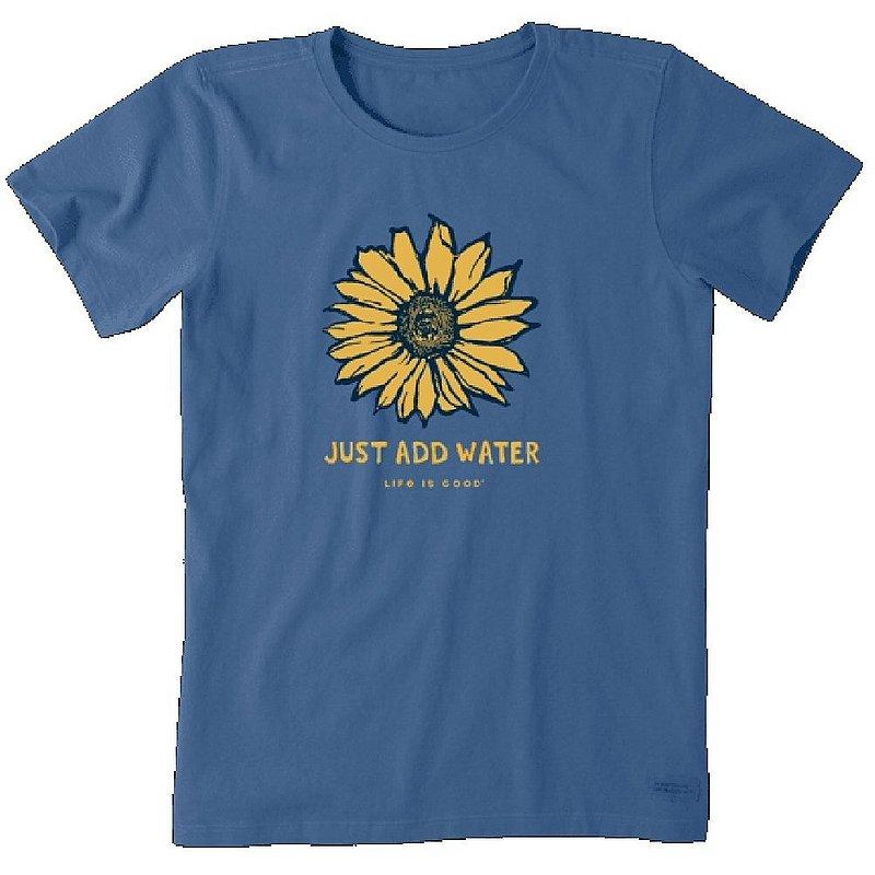 Life is good Women's Just Add Water Sunflower Crusher Tee Shirt 94811 (Life is good)