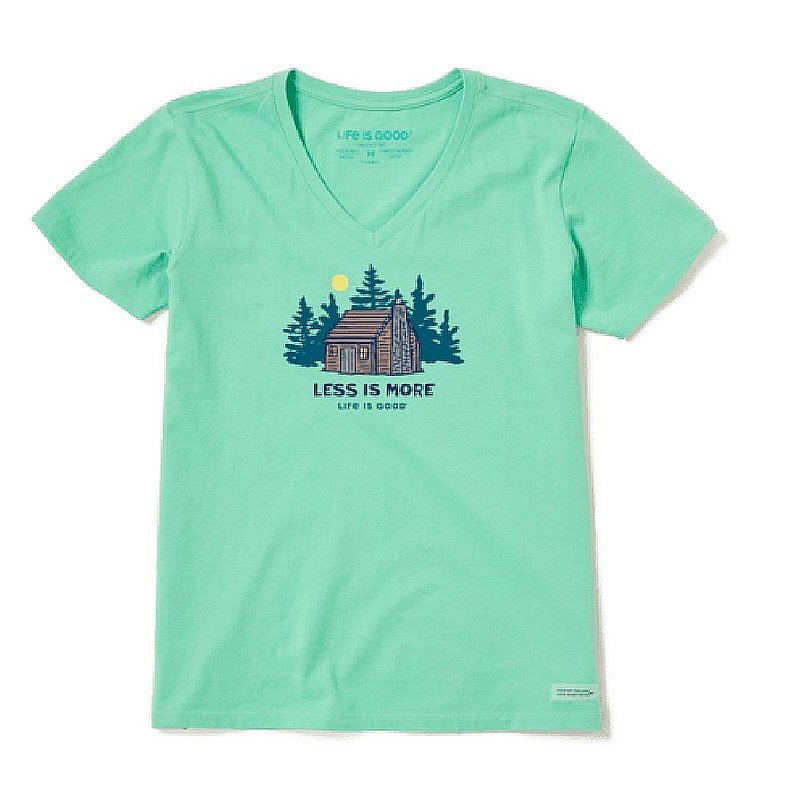 Life is good Women's Less Is More Cabin Crusher-Lite Vee Shirt 71864 (Life is good)